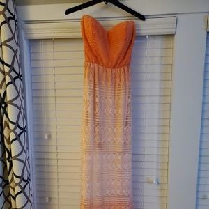 Maxi/mini dress in peach